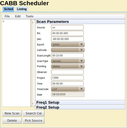The Simple View of the CABB Web Scheduler.
